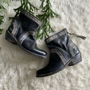 Bed Stu Binary Black Leather Boho Western Boots 9